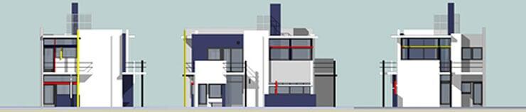 Planos de la Casa Rietveld.