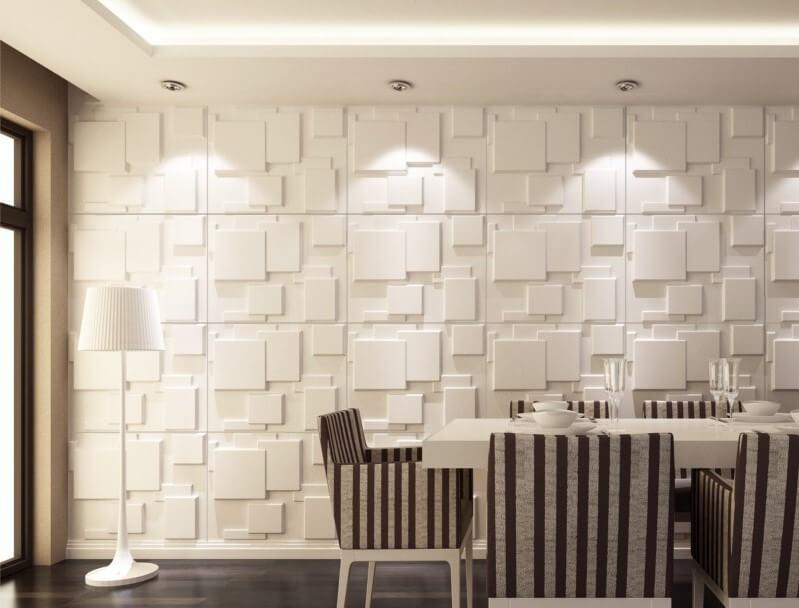 Revestimiento de pared en blanco.