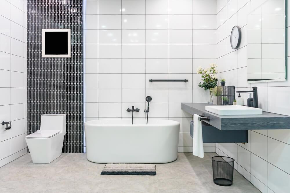 Baño moderno minimalista.
