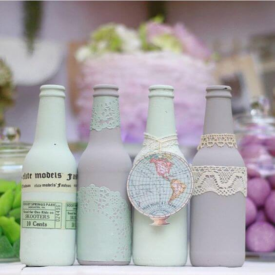 Botellas chalk paint.