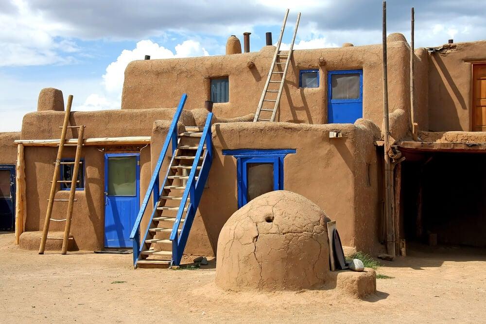 Casa de campo de barro.