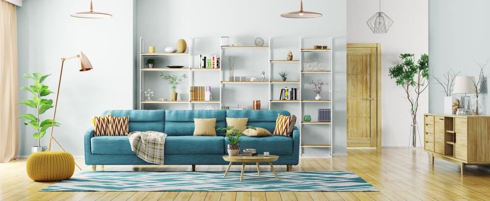 Colores de una decoración escandinava.