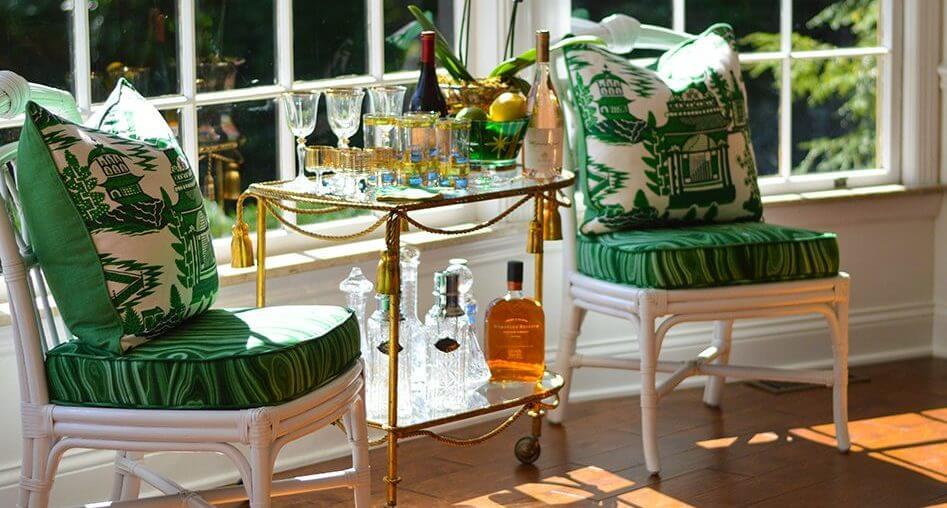 Complementos decorativos Hollywood Regency.