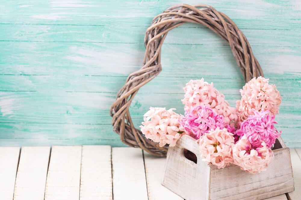 Flores como centro de mesa.