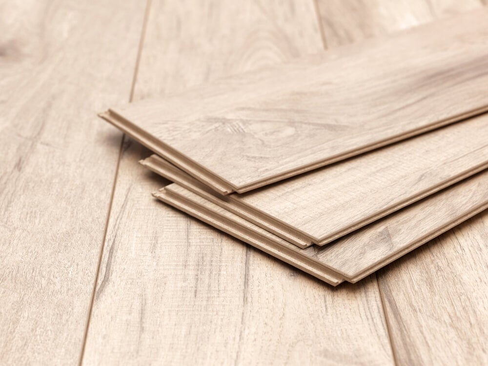 Laminate comes in a range of different thicknesses.