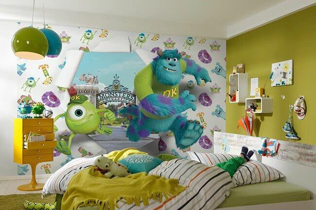 Habitación temática de Monstruos S.A.