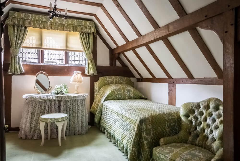 Interior de las casas Tudor.