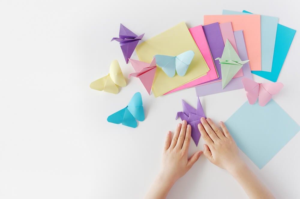 Origami butterflies.