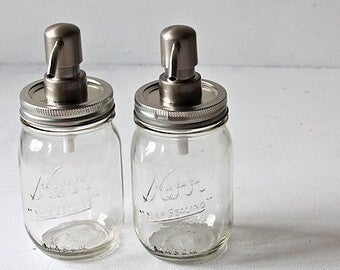 Jaboneras hechas con Mason Jar.