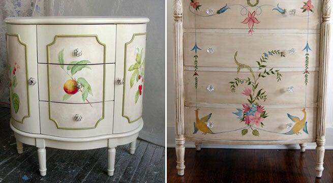Muebles con flores.