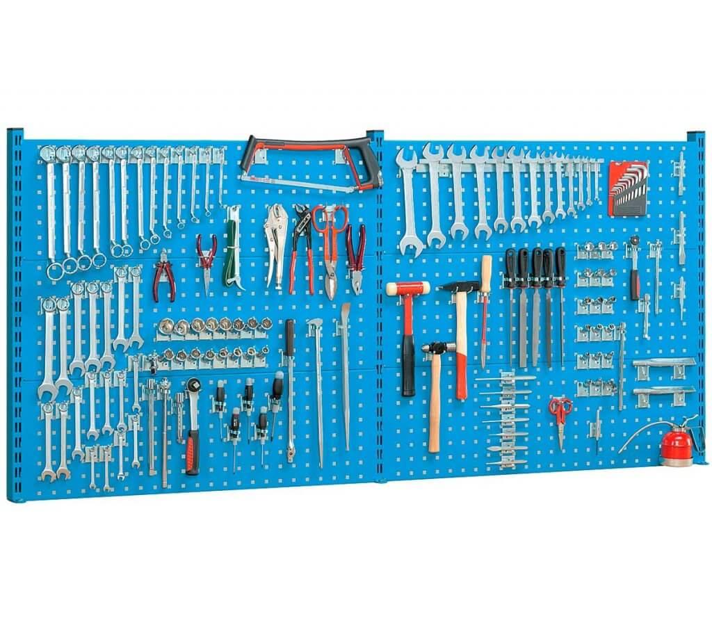 Panel perforado para herramientas.