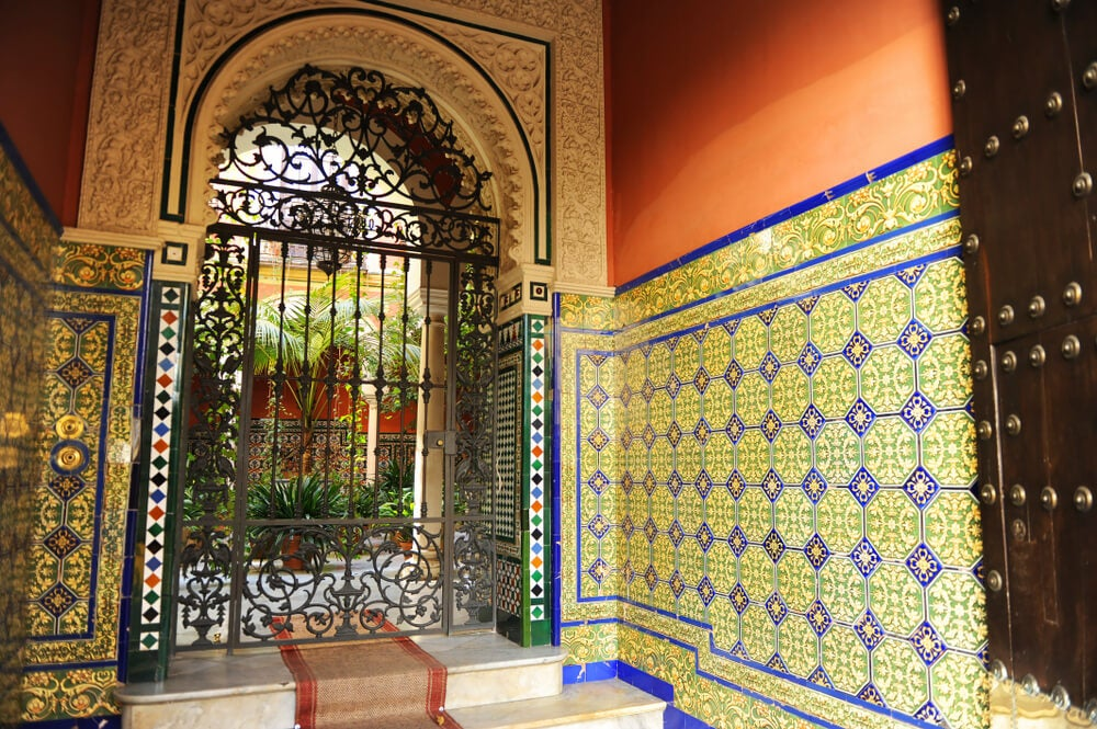 Azulejos de un patio andaluz.