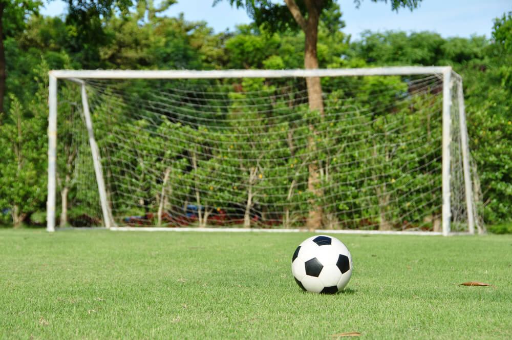 Realiza una pista de fútbol para el jardín