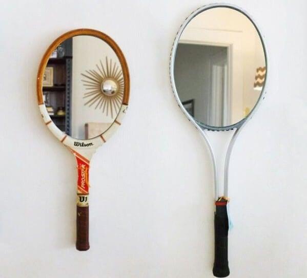 Racket mirrors.