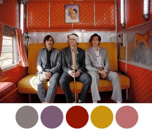 Utilización de colores por Wes Anderson.