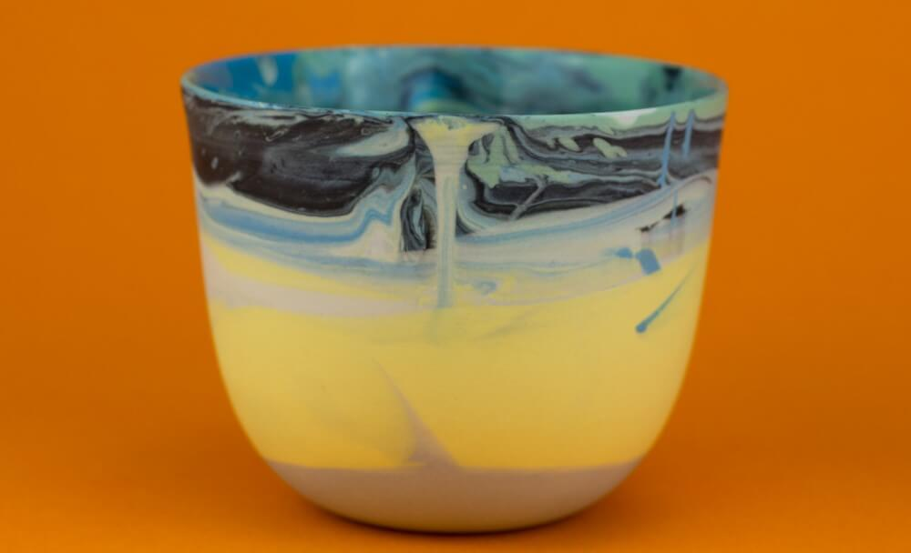 Vaso de cerámica.