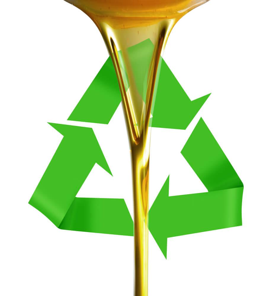Aceite reciclado.
