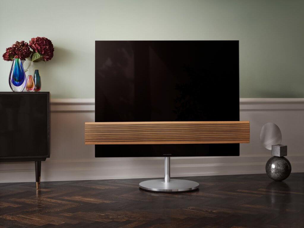 Televisión madera.