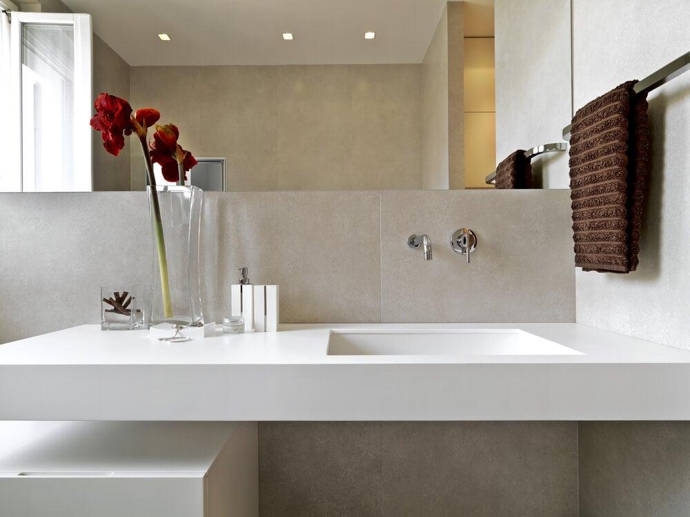 Calidez en un cuarto de baño.