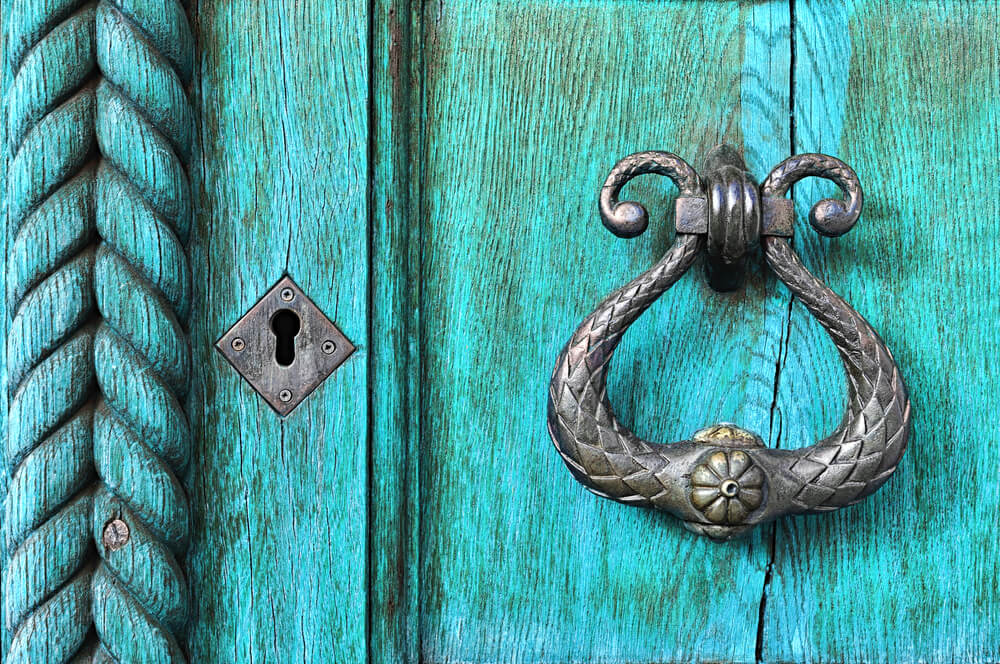 Cerradura de puerta.