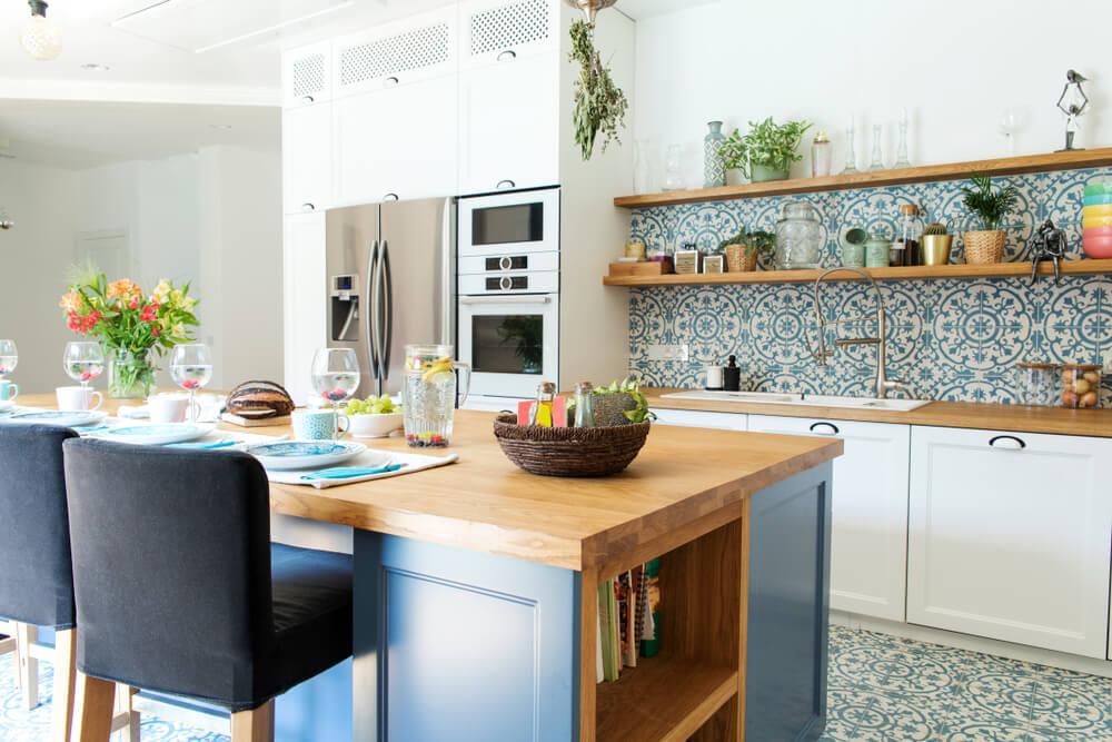 Cocina de estilo mediterráneo.