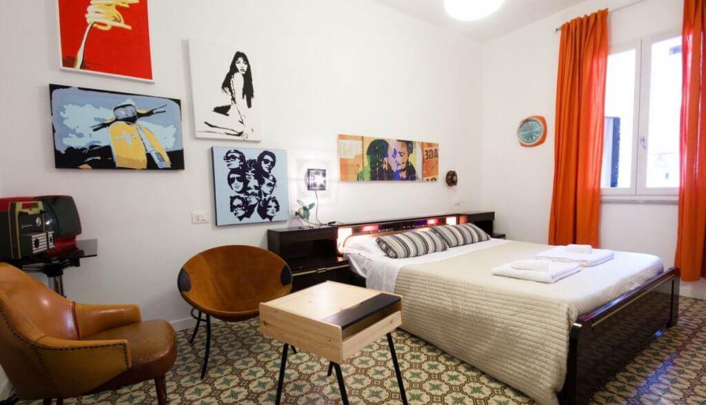 Dormitorio de los años sesenta.