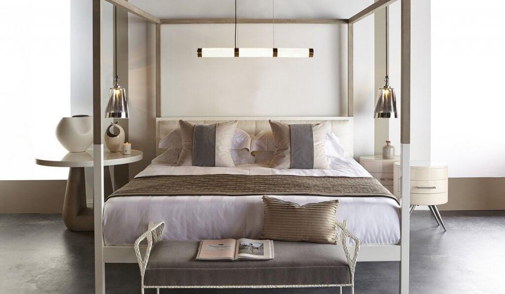Dormitorio con texturas.