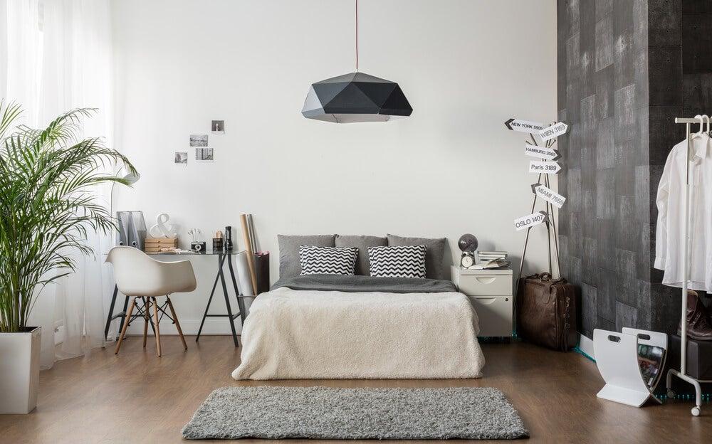 Estilosos dormitorios en color gris