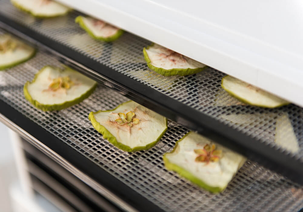 Fruta deshidratada al horno.