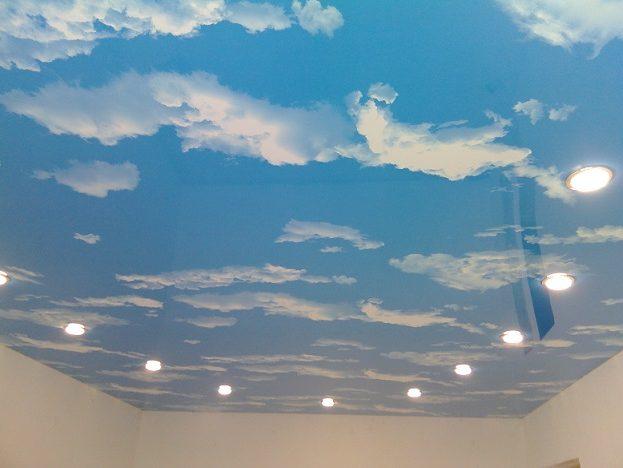 Iluminación de techos tensados.