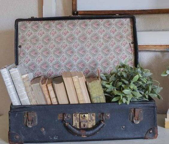 Maletas decorativas vintage.