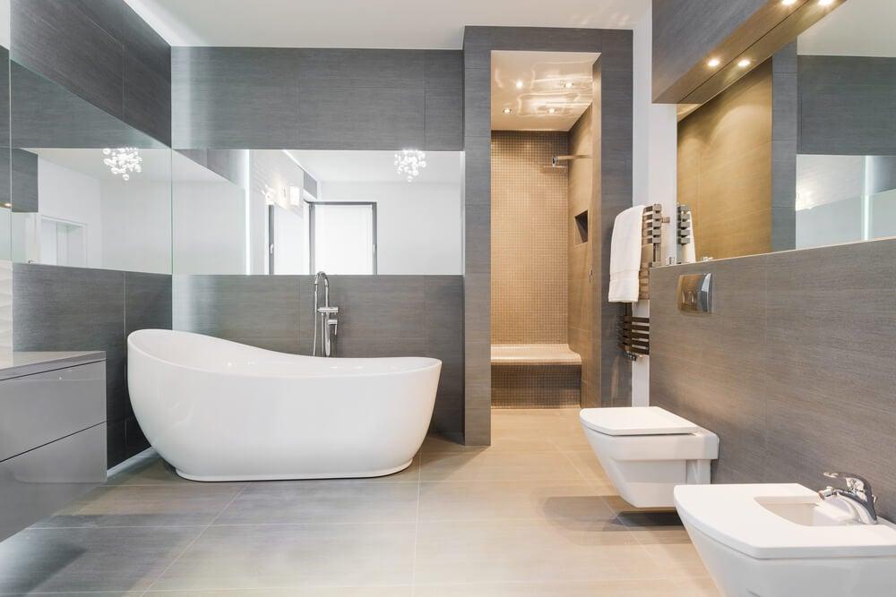 Materiales para un cuarto de baño.