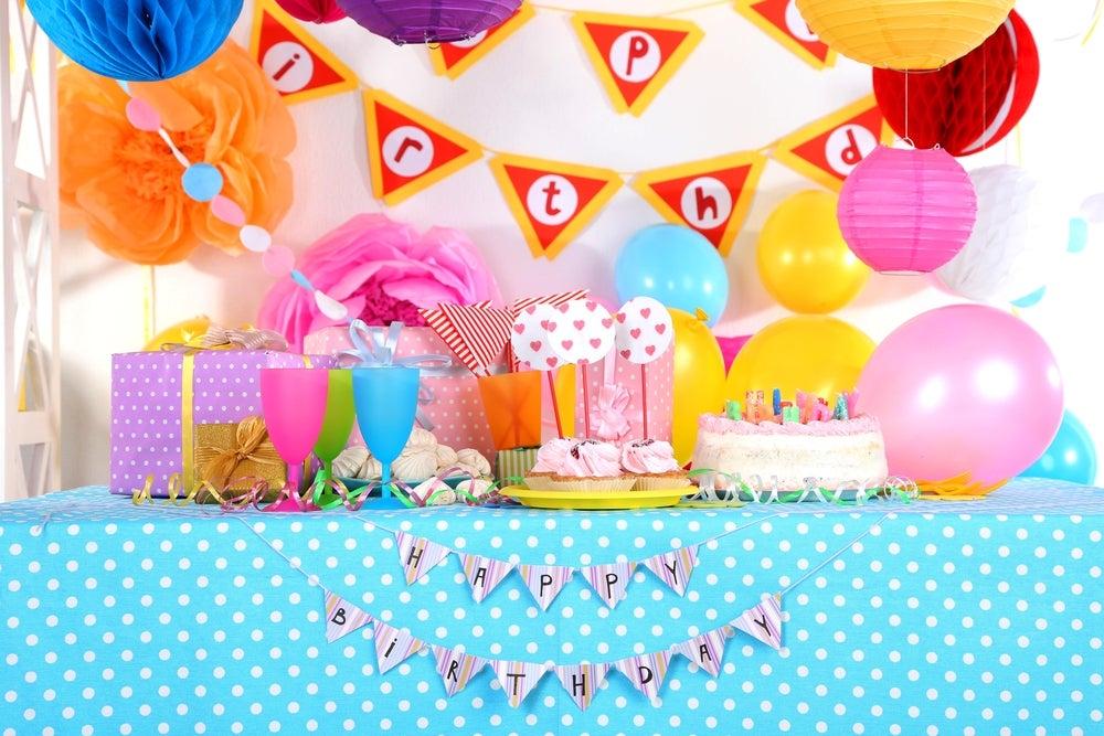Mesa de cumpleaños.