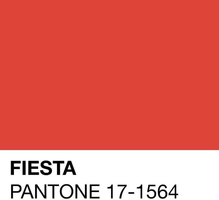 Color Pantone Fiesta.