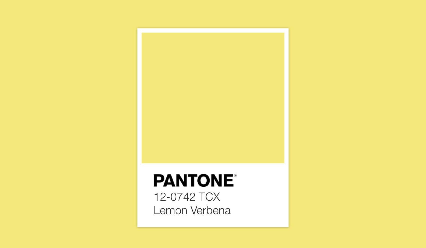 Pantone Lemon.