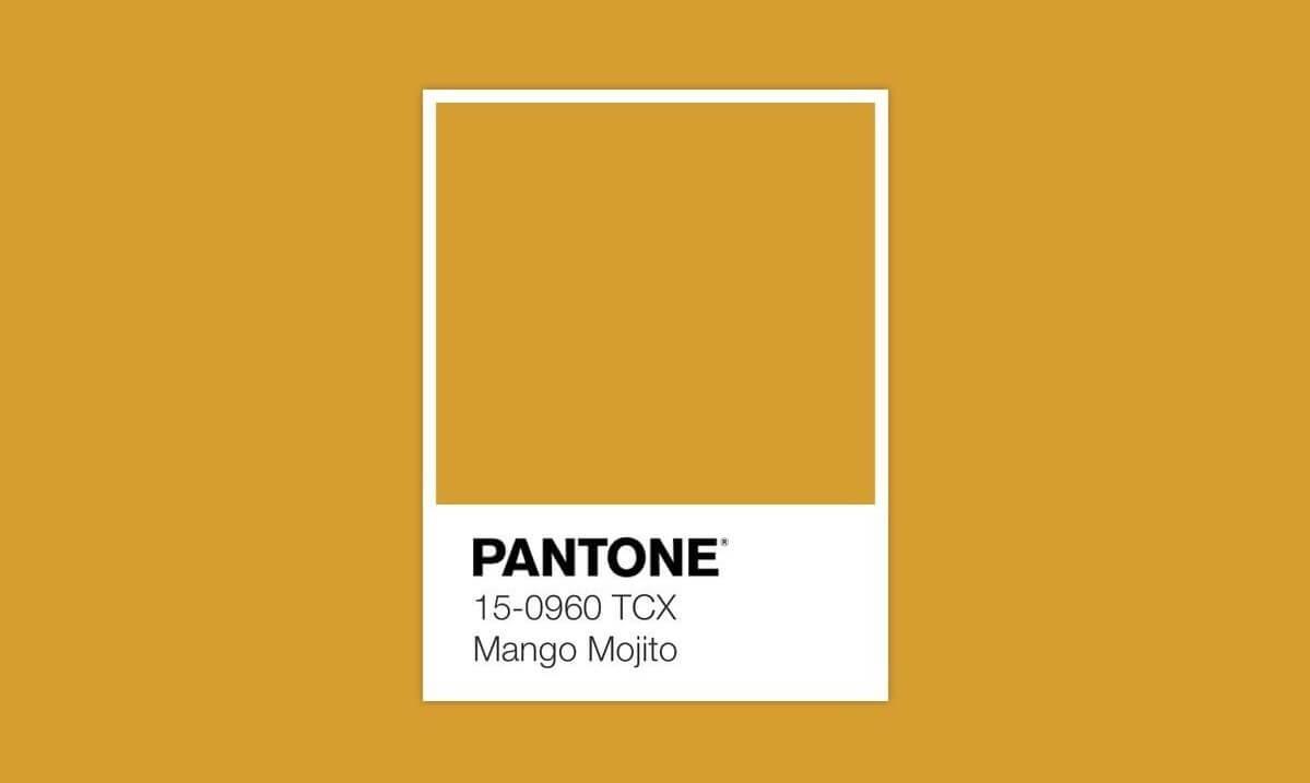 Pantone Mango Mojito.