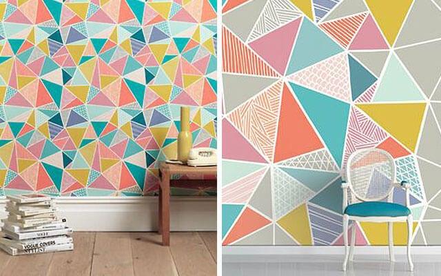 Papel de pared geométrico.