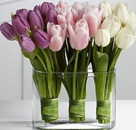 Ramilletes de flores para centros de mesa.