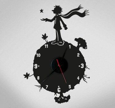 Reloj vinilo de El principito.