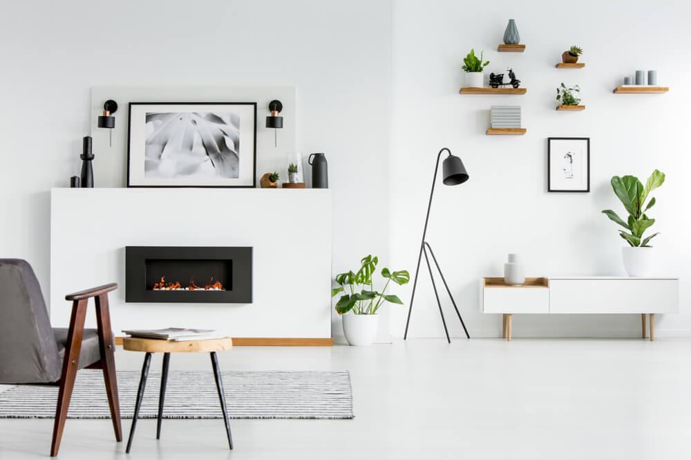 Salas de estar en color blanco