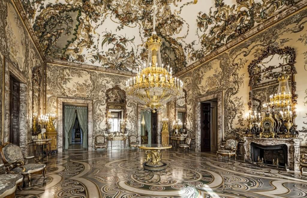 Salón de Gasparini del Palacio Real de Madrid.