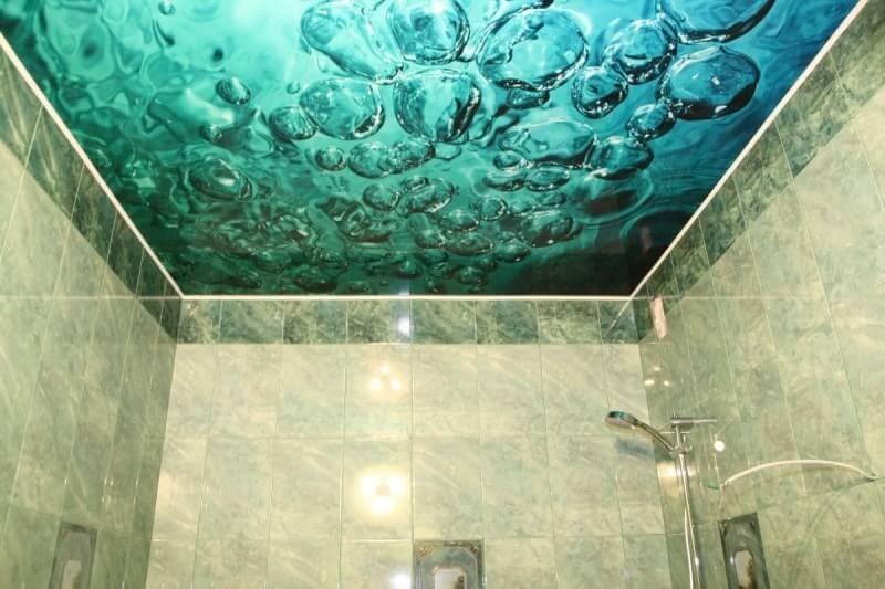 Techo de burbujas de agua.