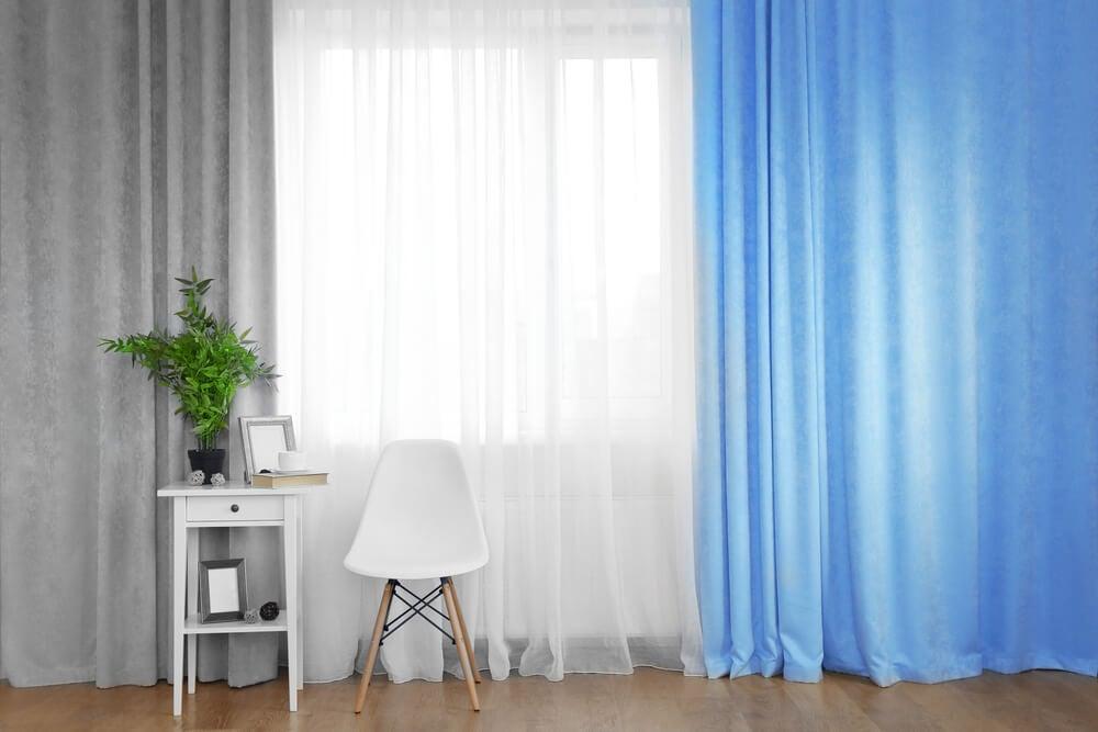 Texturas de las cortinas.