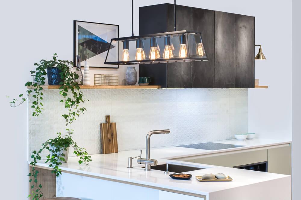 Tipos de iluminación de cocina.