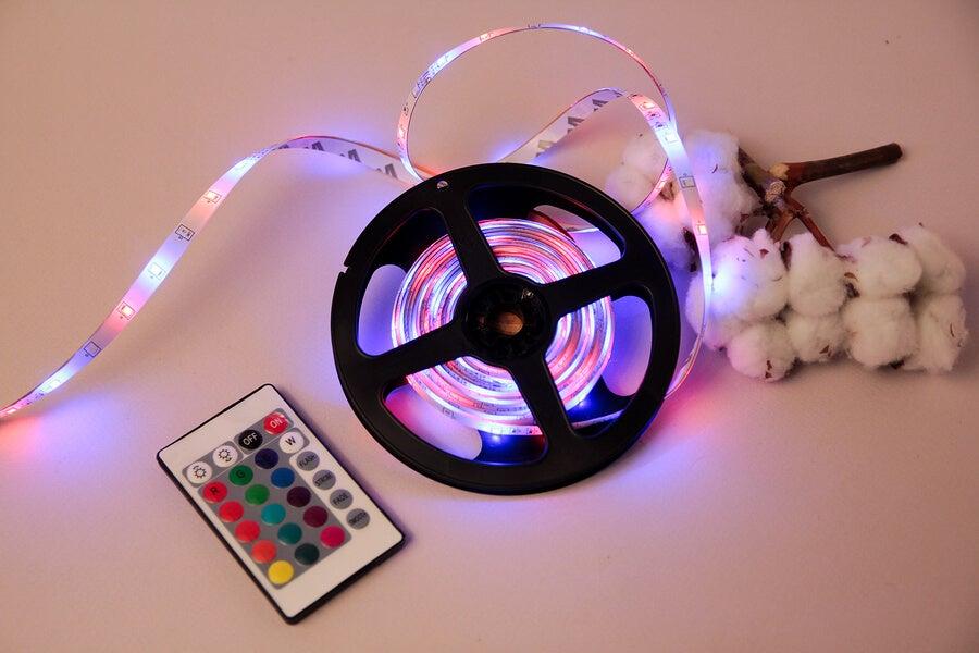 Las tiras y mangueras LED pueden venir de varios colores.