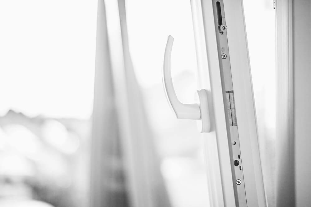 White PVC windows.