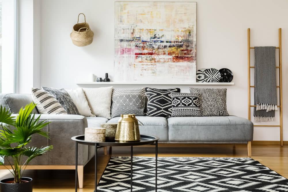8 magníficas formas de colocar los cojines en el sofá