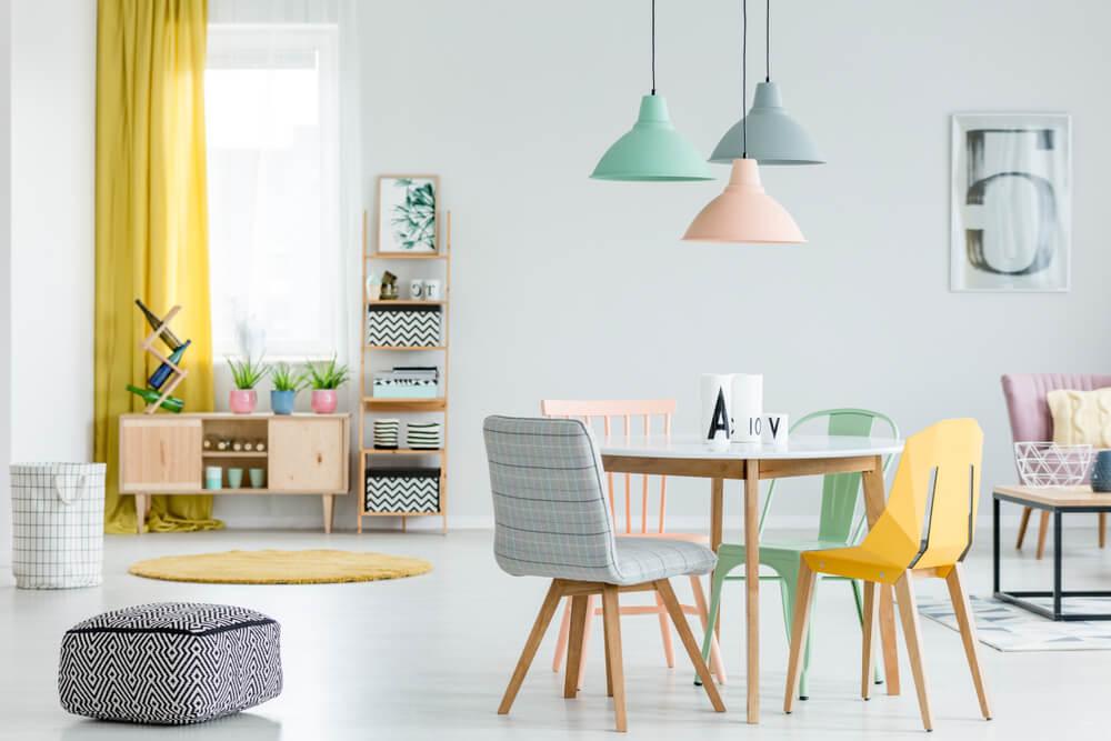 5 combinaciones de colores llamativos para tu hogar