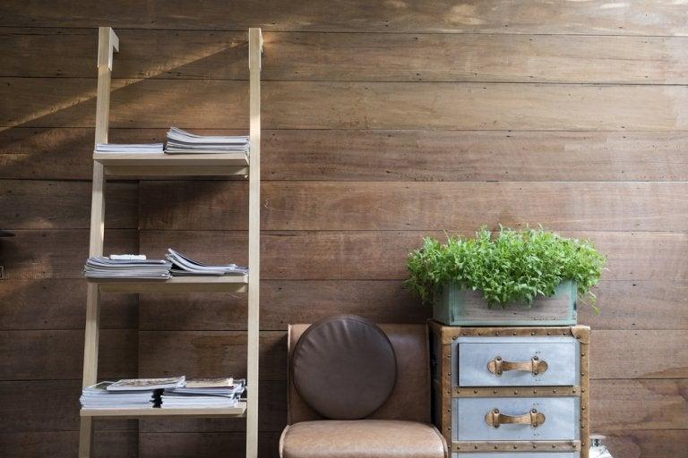 La escalera puede convertirse en una estantería