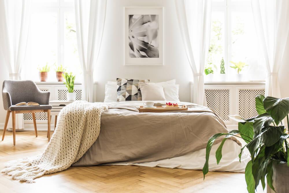 El espacio acogedor con el estilo cozy